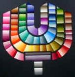 コスモ刺しゅう糸全443色で表現した刺しゅう協会のマーク